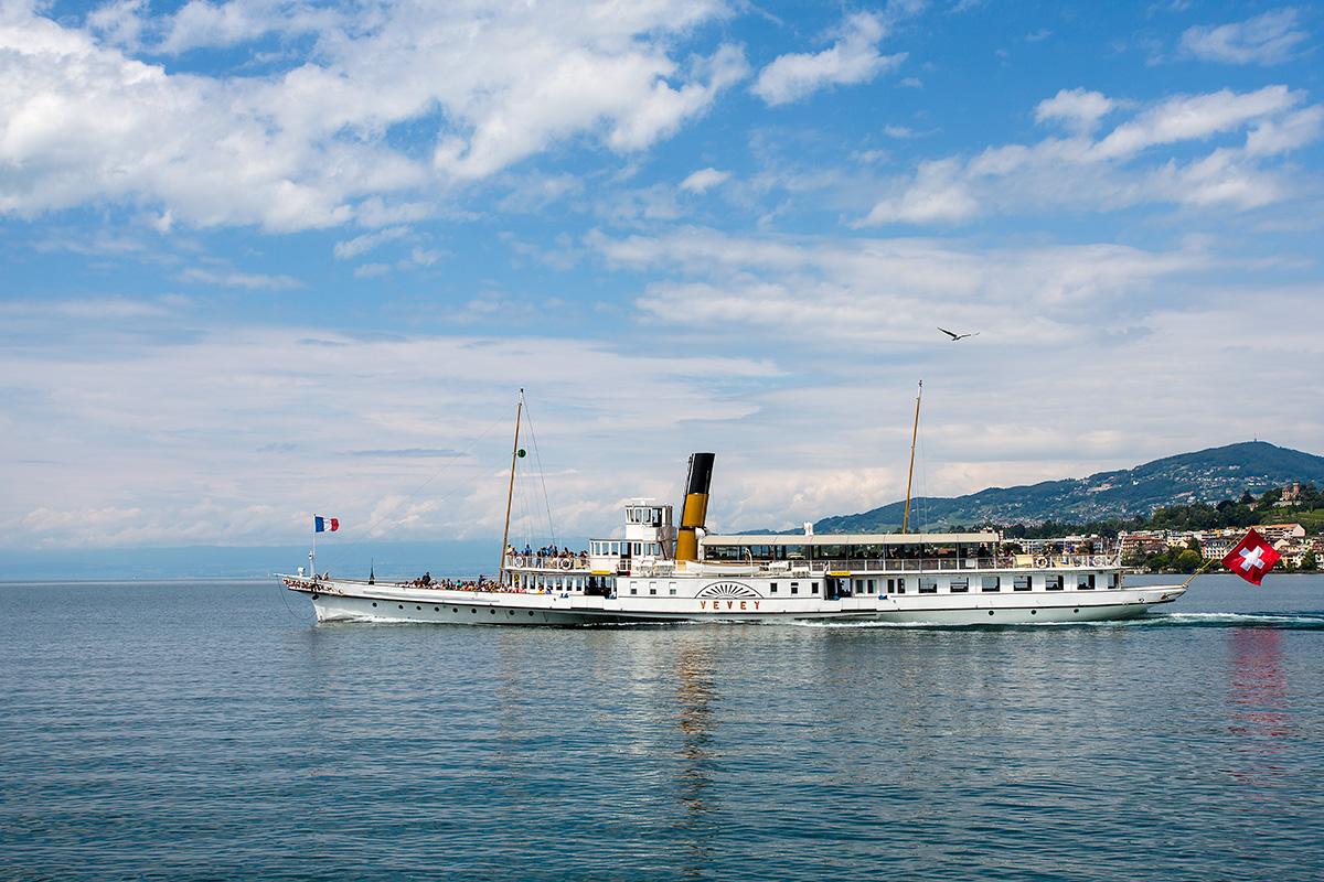 Départ du M/S Vevey de Montreux en course 904
